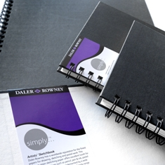 Daler-Rowney Simply Wirebound Sketchbook Soft White 100 gsm