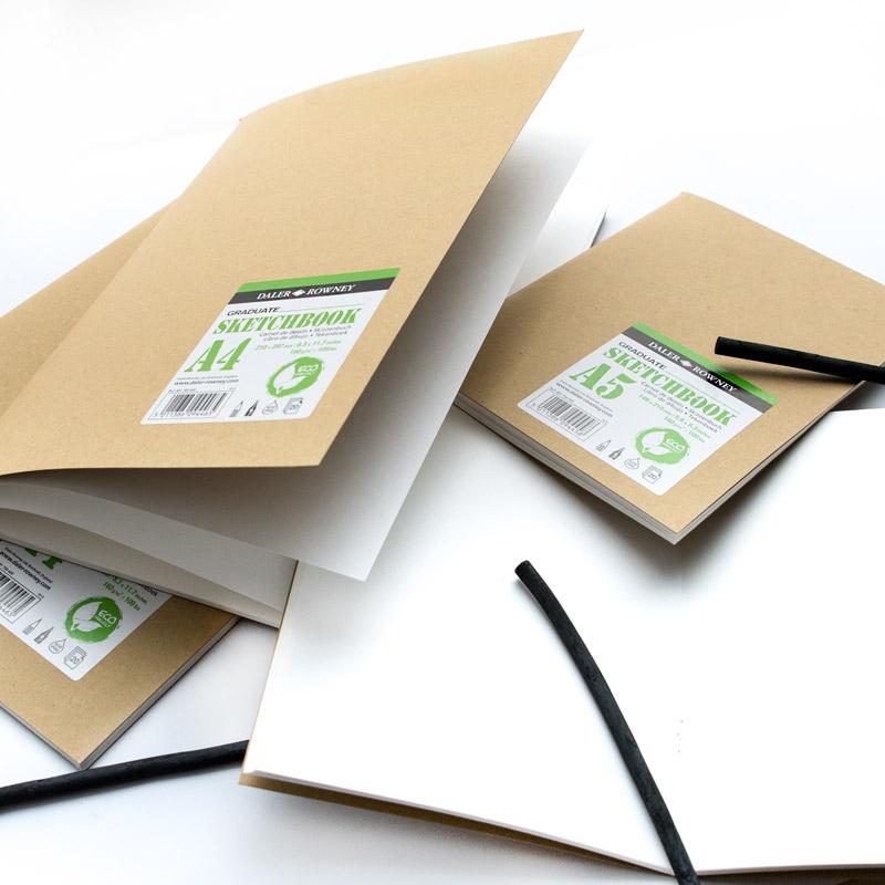 Daler-Rowney Graduate Kraft Cover Soft Stapled Sketchbook 160 gsm