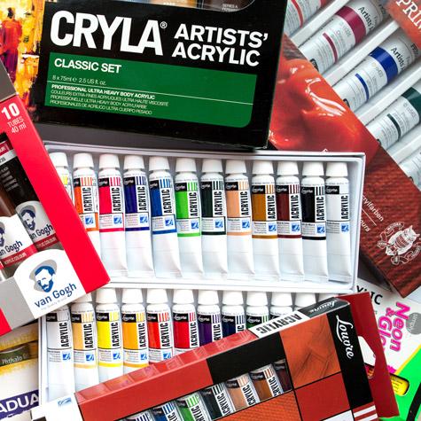 Farby Akrylowe Zestawy