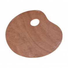 Paleta Malarska Drewniana Owalna 25x30 cm A15432