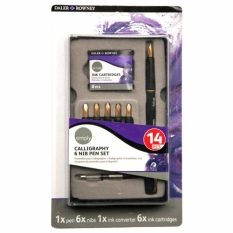 ZESTAW DO KALIGRAFII DALER-ROWNEY SIMPLY CALLIGRAPHY 6 NIB PEN SET 845900910