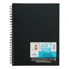 SZKICOWNIK CANSON ART BOOK MIX MEDIA 224 GSM SPIRALA 22,9 X 30,5 CM 40 ARK. 100516110