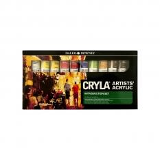 KOMPLET FARB AKRYLOWYCH 10 X 22ML DALER-ROWNEY CRYLA INTRODUCTION 125900012