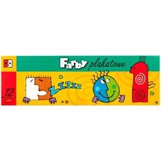 Farby Plakatowe Jedność 12 x 20 ml Słoiczki