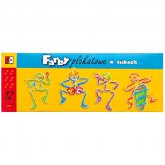 Farby Plakatowe Jedność 12 x 30 ml Tuby