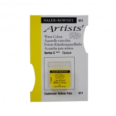 FARBA AKWARELOWA DALER-ROWNEY ARTISTS HALF PAN 611 CADMIUM YELLOW PALE (C)