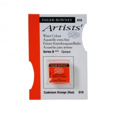 FARBA AKWARELOWA DALER-ROWNEY ARTISTS HALF PAN 619 CADMIUM ORANGE (HUE) (B)