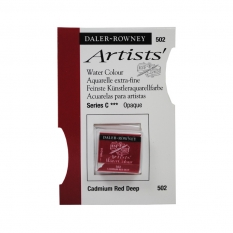 FARBA AKWARELOWA DALER-ROWNEY ARTISTS HALF PAN 502 CADMIUM RED DEEP (C)