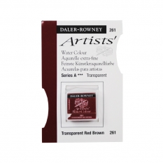 FARBA AKWARELOWA DALER-ROWNEY ARTISTS HALF PAN 261 TRANSPARENT RED BROWN (A)