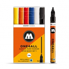 Markery Molotow One4all 127HS 6 Basic Set 1 200230