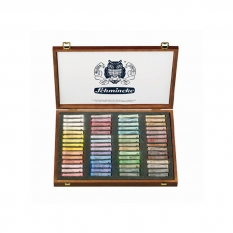 PASTELE SCHMINCKE FINEST EXTRA SOFT ARTISTS PASTELS 60 WOODEN BOX 77260