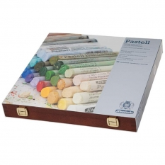 PASTELE SCHMINCKE FINEST EXTRA SOFT ARTISTS PASTELS 45 WOODEN BOX LANDSCAPE 77345