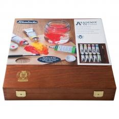 Farby Olejne Schmincke Akademie 9 X 60 Ml Wooden Box 79706097