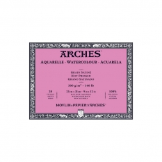 Blok Akwarelowy Arches Hot Press Natural White 300 Gsm 23 X 31 Cm 20 Ark. A1795072