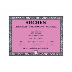Blok Akwarelowy Arches Hot Press Natural White 300 Gsm 26 X 36 Cm 20 Ark. A1795073