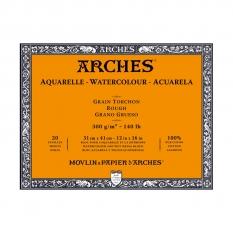 BLOK AKWARELOWY ARCHES ROUGH NATURAL WHITE 300 GSM 31 X 41 CM 20 ARK. 1795087