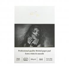 BLOK SMLT PROFESSIONAL QUALITY BRISTOL PAPER PAD 308 GSM A4 PS10308PRO