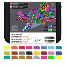Promarker Winsor & Newton Mixed Marker Set 24 0290037