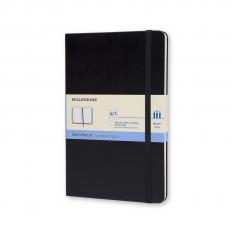 SZKICOWNIK MOLESKINE SKETCHBOOK HARD BACK 165 GSM BLACK LARGE 13 X 21 CM