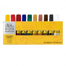 Farby Akrylowe Winsor & Newton Galeria 10 x 60 ml 2190517