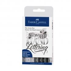 ZESTAW FABER-CASTELL PITT ARTIST PEN HAND LETTERING 9 267118