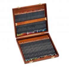 KREDKI DERWENT PROCOLOUR 48 WOODEN BOX 2302523