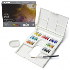 FARBY AKWARELOWE WINSOR & NEWTON PROFESSIONAL WATER COLOUR 14 HALF PANS THE COMPACT SET