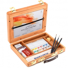 Farby Akwarelowe Winsor & Newton Professional Water Colour 12 Half Pans Bamboo Box