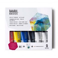 FARBY AKRYLOWE LIQUITEX BASICS ACRYLIC TECHNIQUE WET ON WET 6 X 75 ML 3699304