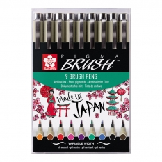 Zestaw Sakura Pigma Brush 9 Set Poxsdkbr9