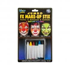 Kredki Do Malowania Twarzy 6 Wolf Jumbo Makeup Sticks Brights Wcjb01