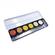 Farbby Akwarelowe Finetec 6 Pearl Colours F0600