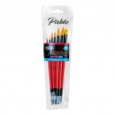 PĘDZLE PABLO GOLD TAKLON NYLON BRUSH 7 SET PBWAL07
