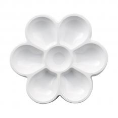 Paleta do Malowania CWR Plastikowa Kwiatek 7 Komór 18 cm 183