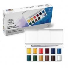 Farby Akwarelowe Winsor & Newton Cotman 12 Half Pan Sketchers Pocket Box 0390640