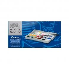 ZESTAW AKWARELI WINSOR & NEWTON COTMAN 12 HALF PAN SKETCHERS POCKET BOX 0390640