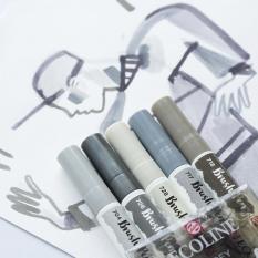 Pisaki Talens Ecoline Brushpen 5 Grey