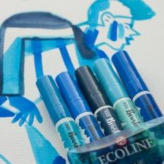 Pisaki Talens Ecoline Brushpen 5 Blue