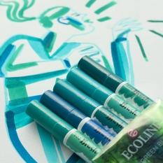 Pisaki Talens Ecoline Brushpen 5 Green Blue