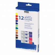 Farby Akrylowe Kreul El Greco 12 X 12 Ml Acrylic Colors 28250