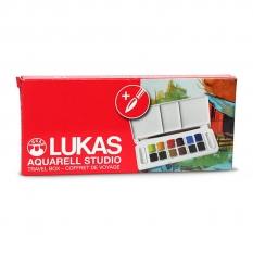 Farby Akwarelowe Lukas Studio Watercolour Travel Case 68550000