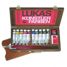 Farby Akrylowe Lukas Cryl Pastos Wooden Box 10 X 37 Ml 60540000