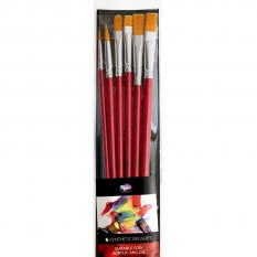 PĘDZLE PABLO 6 SYNTHETIC BRUSHES ACRYLIC & OIL LONG RED HAND 15188-AO-L