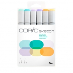 MARKERY COPIC SKETCH 6 PALE PASTELS 21075667