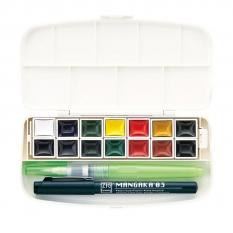 Farby Akwarelowe Kuretake Transparent Watercolor Set 14 WSKG301-1