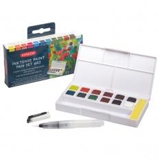 Farby Derwent Inktense Paint Pan 12 Travel Set Palette 02 2305789