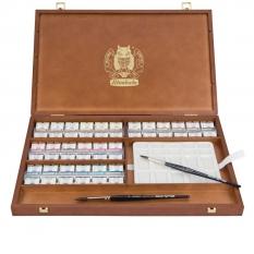 Farby Akwarelowe Schmincke Horadam 48 Kostek Wooden Box 74348097