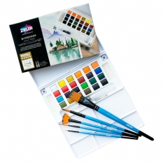 Farby Akwarelowe Zieler 24 Premium Half Pan Water Colour Set 09292261