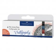 ZESTAW FABER-CASTELL PITT ARTIST PEN CALLIGRAPHY INDIA INK 4 CLASSIC 167504