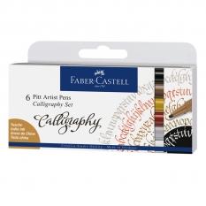 ZESTAW FABER-CASTELL PITT ARTIST PEN CALLIGRAPHY INDIA INK 6 167506